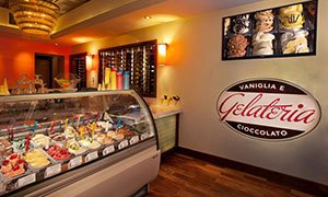 Inside the Vaniglia E Cioccolato Gelateria in Deerfield